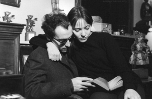 Anna Karina And Jean-Luc Godard At Home In Paris.(Photo via AnnaKarina.com)