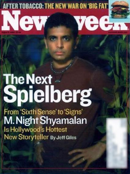 Image result for m. night shyamalan newsweek cover