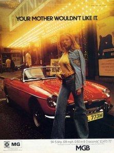 Advertisement, MGB, 1973